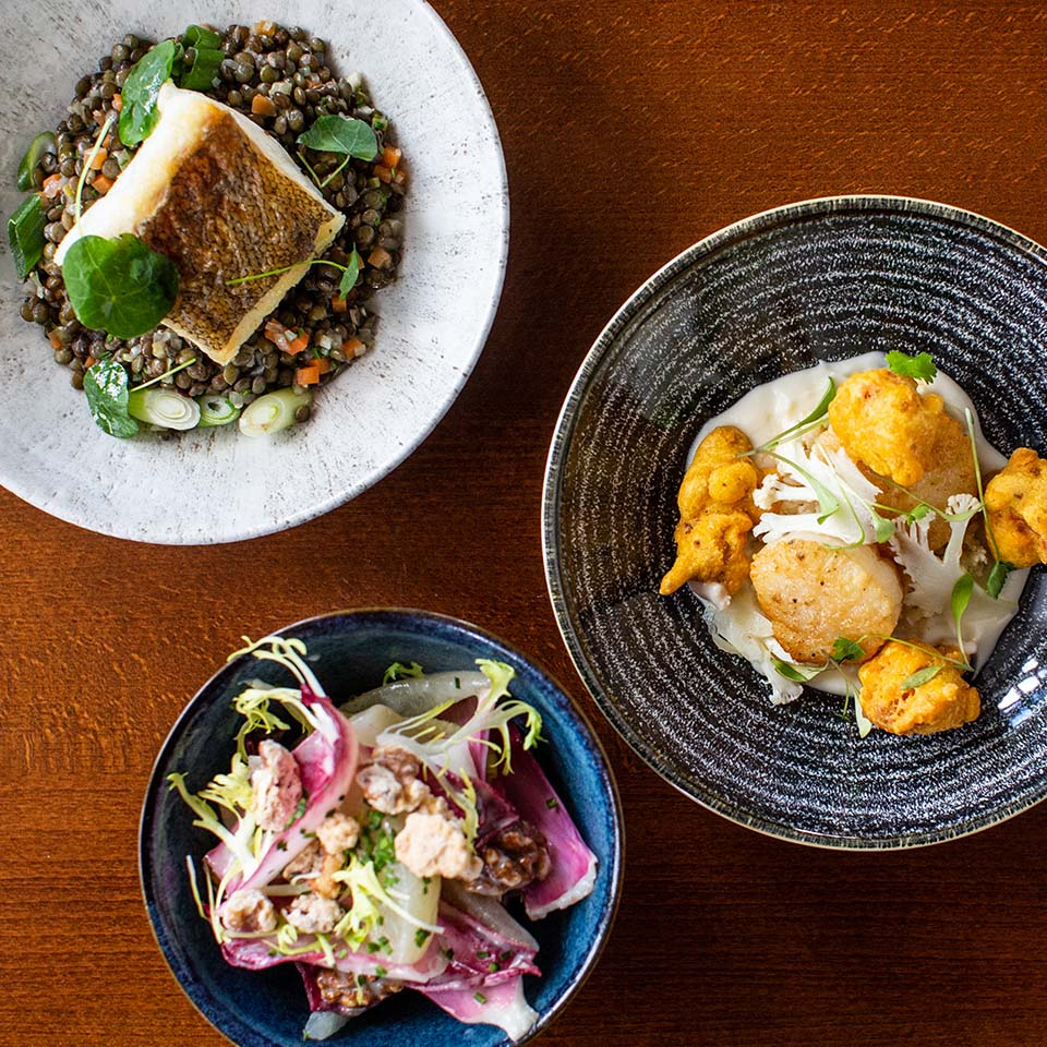 Dishes to share at The Arden Hotel in Stratford-upon-Avon